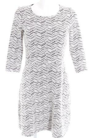 Esprit Robe stretch blanc-gris anthracite Motif de tissage style décontracté