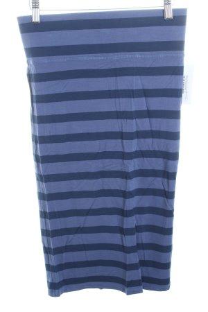 Esprit Stretchrock blau-kornblumenblau Streifenmuster schlichter Stil