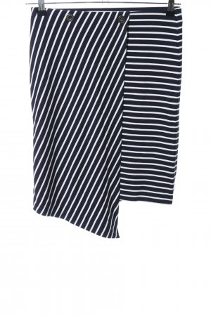 Esprit Stretch Skirt black-white striped pattern casual look