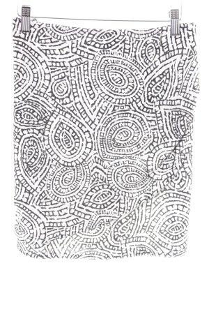 Esprit Stretchrock schwarz-weiß Aztekenmuster Paris-Look