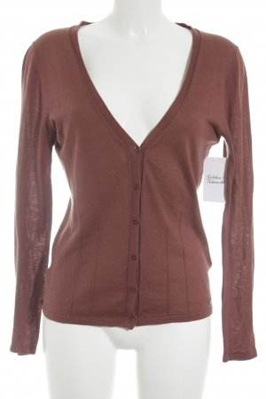 Esprit Strick Cardigan braunrot Casual-Look