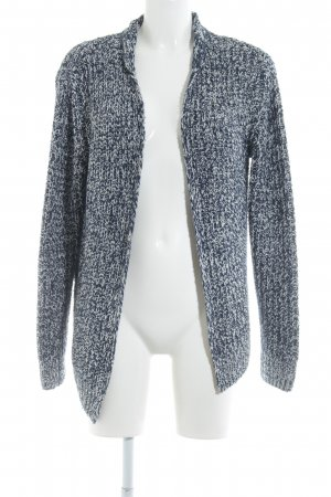Esprit Strick Cardigan dunkelblau-weiß meliert Casual-Look