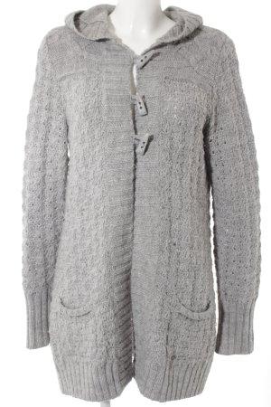 Esprit Cardigan in maglia grigio chiaro Motivo a maglia leggera stile casual
