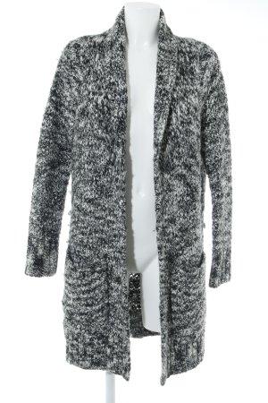 Esprit Strick Cardigan schwarz-weiß meliert Casual-Look