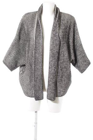 Esprit Strick Cardigan schwarz-wollweiß Streifenmuster Casual-Look