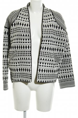 Esprit Knitted Cardigan natural white-black Aztec pattern casual look