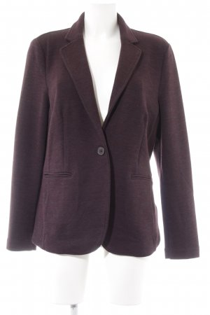 Esprit Strickblazer bordeauxrot meliert Business-Look