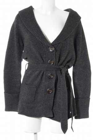 Esprit Strickjacke anthrazit-grau meliert Casual-Look