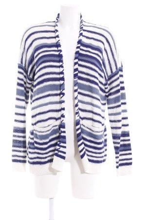 Esprit Strickjacke blau-weiß Streifenmuster Casual-Look