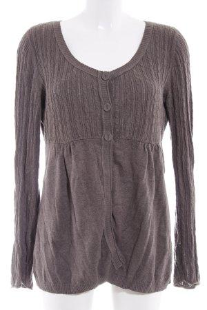 Esprit Giacca in maglia marrone-grigio stile casual