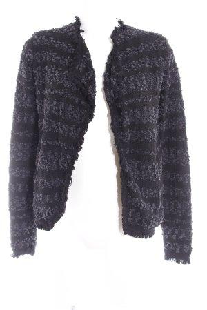 Esprit Strickjacke schwarz-grau Kuschel-Optik