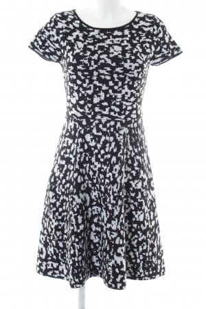 Esprit Strickkleid schwarz-weiß Allover-Druck Casual-Look