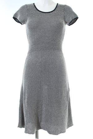 Esprit Strickkleid weiß-schwarz Allover-Druck Elegant