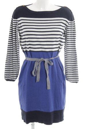 Esprit Knitted Dress dark blue horizontal stripes casual look