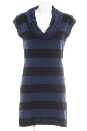 Esprit Strickkleid dunkelblau-schwarz Streifenmuster Casual-Look