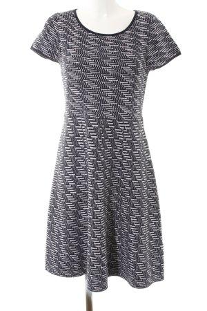 Esprit Strickkleid dunkelblau-weiß abstraktes Muster Casual-Look