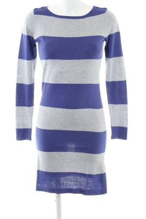 Esprit Strickkleid blau-hellgrau Streifenmuster Casual-Look