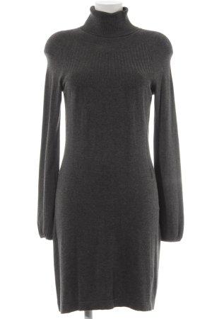 Esprit Strickkleid grau-dunkelgrau Webmuster Brit-Look