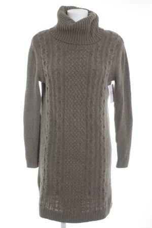 Esprit Robe en maille tricotées marron clair torsades style décontracté