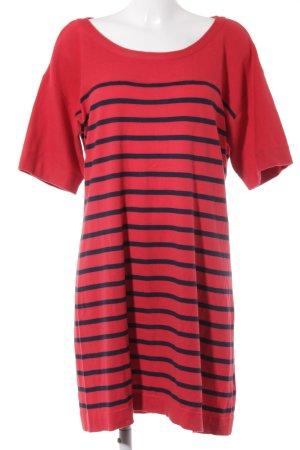 Esprit Robe en maille tricotées rouge-bleu foncé motif rayé