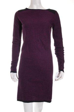 Esprit Strickkleid schwarz-dunkelviolett Street-Fashion-Look
