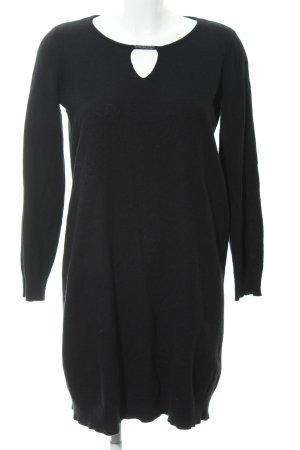 Esprit Strickkleid schwarz-silberfarben Casual-Look