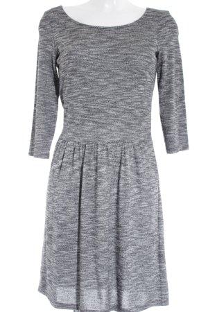 Esprit Strickkleid schwarz-weiß meliert Casual-Look