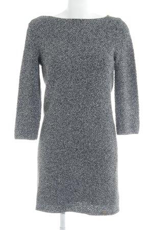Esprit Strickkleid schwarz-weiß meliert Kuschel-Optik