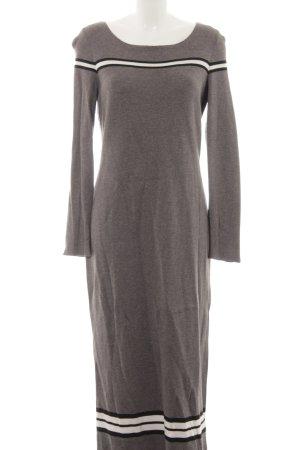 Esprit Robe en maille tricotées motif rayé style simple