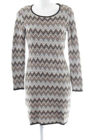 Esprit Robe en maille tricotées motif en zigzag style décontracté