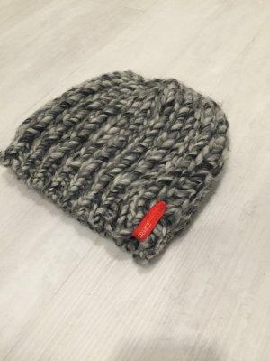 Esprit Strickmütze Wollmütze Kappe Wintermütze grau