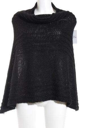 Esprit Strickponcho schwarz klassischer Stil