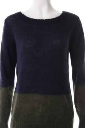Esprit Strickpullover dunkelblau-dunkelgrün