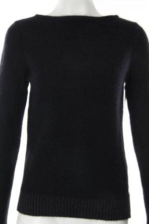 Esprit Strickpullover dunkelblau-silberfarben