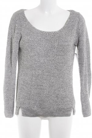 Esprit Strickpullover grau-weiß meliert Casual-Look