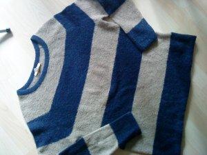Esprit Gebreide trui zandig bruin-donkerblauw Gemengd weefsel