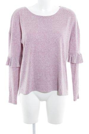 Esprit Pull tricoté rose-violet moucheté style décontracté