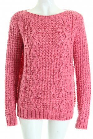 Esprit Strickpullover rosa Zopfmuster Casual-Look
