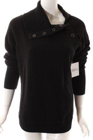 Esprit Strickpullover schwarz Casual-Look