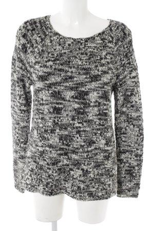 Esprit Strickpullover schwarz-weiß meliert Casual-Look