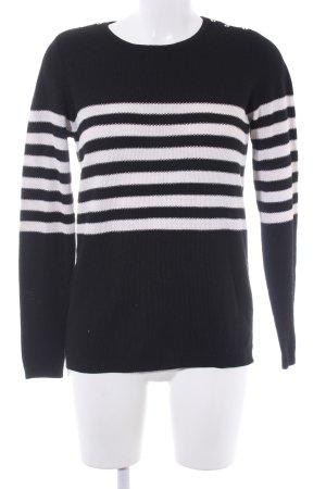 Esprit Maglione lavorato a maglia nero-bianco motivo a righe stile casual