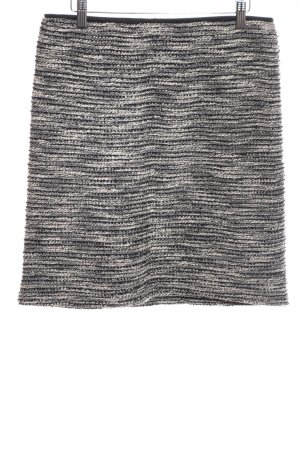 Esprit Knitted Skirt black-white weave pattern casual look