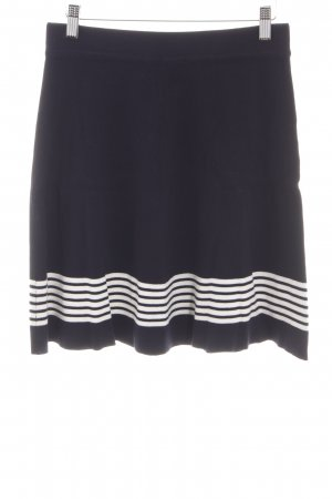 Esprit Knitted Skirt black-white striped pattern casual look