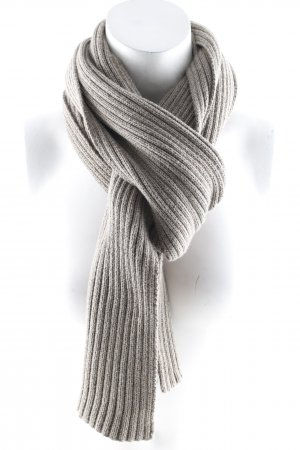 Esprit Knitted Scarf grey brown weave pattern casual look