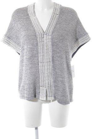 Esprit Strickshirt weiß-dunkelblau meliert Casual-Look