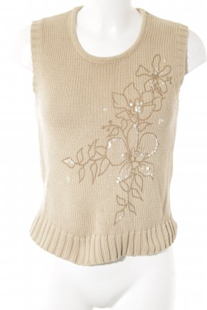 Esprit Knitted Top beige floral pattern casual look