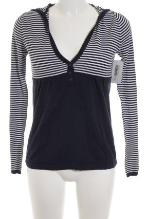 Esprit Top de punto blanco-azul oscuro rayas horizontales look casual