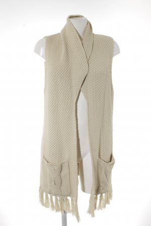 Esprit Strickweste creme Zopfmuster Casual-Look