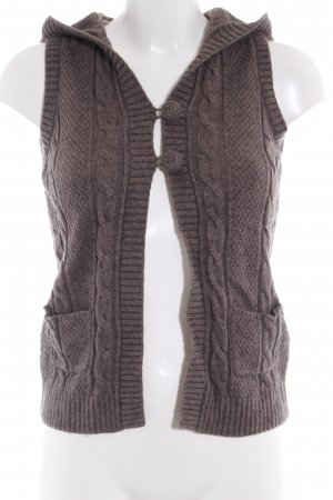 Esprit Knitted Vest light brown cable stitch casual look