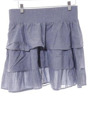 Esprit Gelaagde rok leigrijs gestippeld casual uitstraling